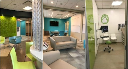 Interior photos of different areas of foundry kelowna, operated by CMHA Kelowna