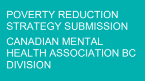 2018 submission to BC's poverty reduction consultation