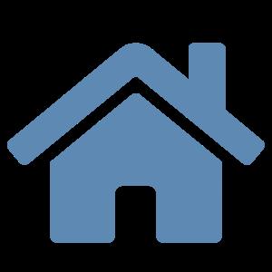 Blue clip art house image